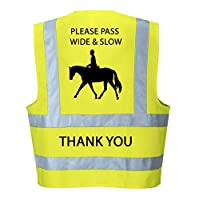 Hi Vis Viz High Visibility Reflective Vest Horse Riding Equestrian Safety Vest