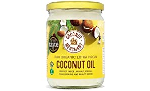 Coconut Merchant Organic Coconut Oil 500mL   Extra Virgin, Raw, Cold Pressed, Unrefined   Ethically Sourced, Vegan, Ketogenic and 100% Natural - 500mL