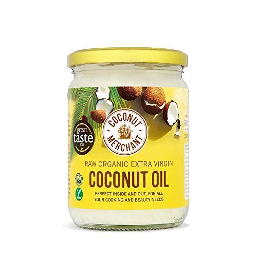 Aceite de coco orgánico Merchant 500 ml | Virgen extra, cruda, prensado en frío, sin refinar | Fuente ética, vegano, cetogénico y 100% natural - 500 ml