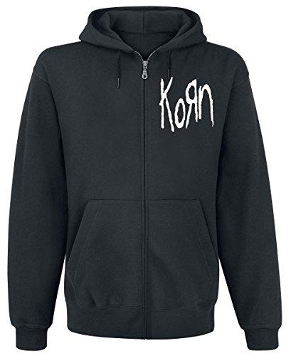Korn Scratched Type Kapuzenjacke schwarz S (Pullover Korn)