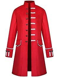 357a57b34a94 Shujin Herren Vintage Steampunk Gothic Jacke Frack Jacke Viktorianischen Langer  Mantel Military Coat Cosplay Kostüm Smoking