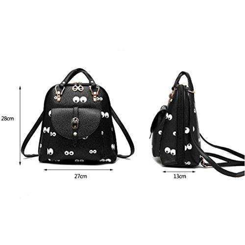 Sacchetto di viaggio dello zaino del sacchetto di spalla della scuola della ragazza delle donne del cuoio sintetico bello Stile-6