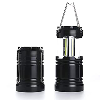 STUWON Portable LED Camping Lantern Flashlights with 3 AAA Batteries,Super Bright Survival Lamp for Emergency, Hurricane, Outdoor (No Battery Included, Collapsible)