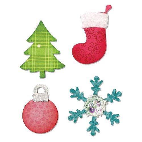 Sizzix Allstar Fustella-Albero di Natale, Ornamenti