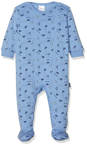 Schiesser Jungen Polizei Baby Anzug Mit Fu Zweiteiliger Schlafanzug, Blau 800, 74 (Herstellergröße: 074)
