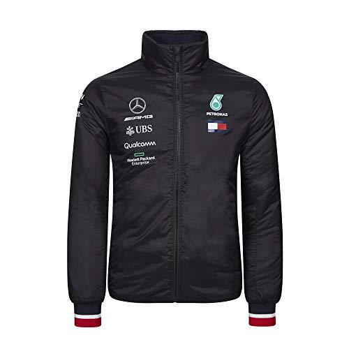 Official Formula 1 Merchandise | Männer | Offizielle Mercedes-AMG Petronas Motorsport 2019 F1TM | Wattierte Teamjacke | Schwarz | Nylon | Größe: XXL
