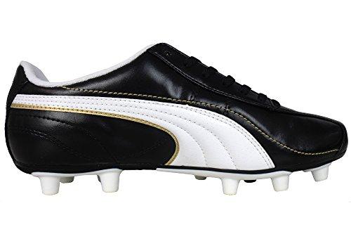 Puma, Scarpe da calcio bambini (Black / White / Gold (Esito XL i))