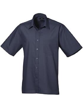 Premier Workwear Poplin Short Sleeve Shirt, Camicia Uomo