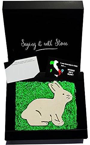 Handgemacht in Italien - Kaninchen aus Stein - Altes und