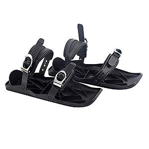 kgjsdf 1 Paar Mini Skiskates, verstellbare Schneeschuhe Skifahren Zubehör Mini Schlitten Snowboard Wand Sport Skischuhe für Damen und Herren