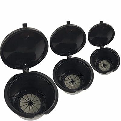 3Pcs réutilisable filtres à café Capsule Tasse Cafetera Accessoires pour toutes les machines à café Dolce Gusto Standard Espresso Nespresso Nescafe Piccolo