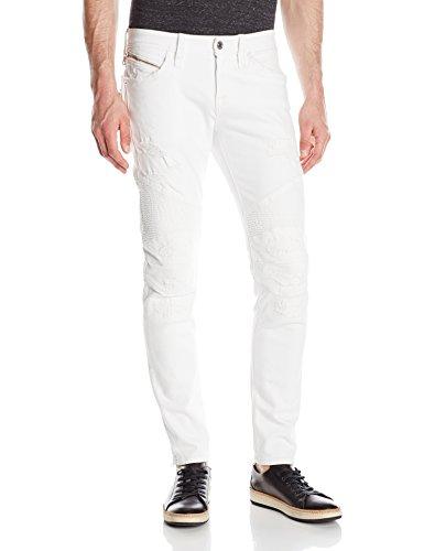 Rock Revival Herren Skinny Fit Jeans - Weiß - 47 (Revival Rock White Mens Jeans)
