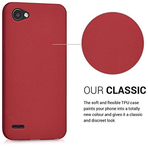 kwmobile Funda para LG Q6 / Q6+ - Carcasa para móvil en [TPU Silicona] - Protector [Trasero] en [Rojo Mate]