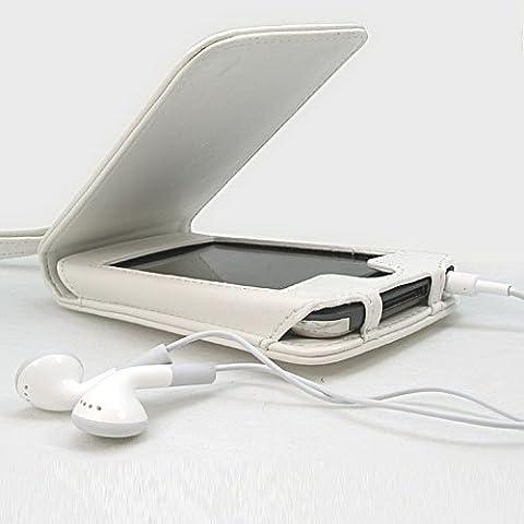 MaryCom Ledertasche PREMIUM QUALITÄT Hülle für Apple iPod Touch 4 Touch 4G in Weis 8GB, 32GB, 64GB + Gratis (Apple Video Ipod Touch 8 Gb)