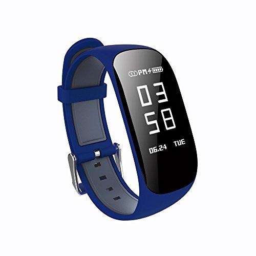 M-serie-benutzerhandbuch (HKFV Wasserdichte Bluetooth Smart Watch Herzfrequenz Blutdruckmessgerät Armband Neue Z17 HR Bluetooth intelligente Uhr Smart Watch Schrittzähler Prävention Schlafmonitor (Marine))