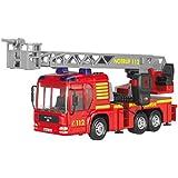 Dickie Toys 203716003 - Fire Hero, Feuerwehrauto inklusive Batterien, (mit der Leiter in eingefahrenem Zustand,43 cm)