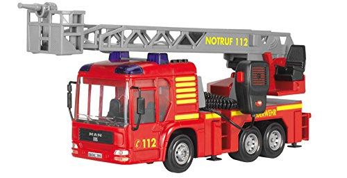 Preisvergleich Produktbild Dickie Toys 203716003 - Fire Hero, Feuerwehrauto inklusive Batterien, (mit der Leiter in eingefahrenem Zustand,43 cm)