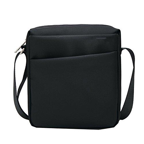 Yy.f Freizeit- Und Geschäftsmann Tasche Umhängetasche Marke Männer Oxford Tuch Wasserdicht Botetaschen Neue Schulterbeutel 3 Farben Black