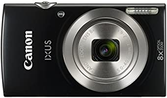Canon IXUS 185 Digitalkamera (20 Megapixel, 8x optischer Zoom, 6,8 cm (2,7 Zoll) LCD Display, HD Movies) schwarz