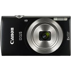 Canon IXUS 185 Digitalkamera (20 Megapixel, 8x optischer Zoom, 6,8 cm (2,7 Zoll) LCD Display, HD Movies) schwarz