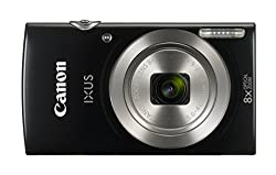Canon IXUS 185 Digitalkamera (20 MP, 6,8cm (2,7 Zoll) LCD, Display, DIGIC 4+, 8x optischer Zoom, Smart Auto, HD Movies, USB, 720p) schwarz