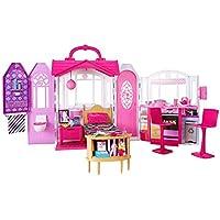 Barbie - Casa de vacaciones portátil, casa de muñecas (Mattel CHF54)