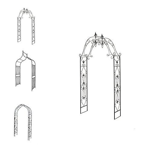 1PLUS robuster Rosenbogen aus Stahl (Kordes 250 x 130 x 40 cm)