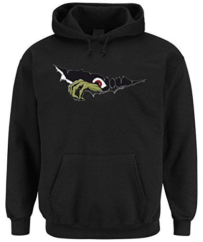 Monster Hand Hooded-Sweater Black Certified (Kostüm Dämon Tumblr)