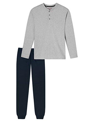 Schiesser Herren Zweiteiliger Schlafanzug Family Anzug Lang Blau (Nachtblau 804)