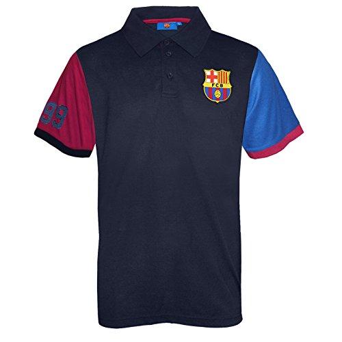 FC Barcelona - Polo oficial para hombre - Azul - Azul marino mangas - Large