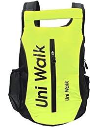 Dahsha Poleyster School-College-Gym Bag Neon Green Casual Backpack