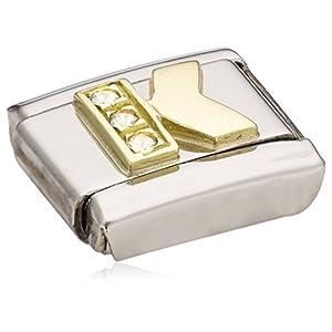 Nomination Comp. Classic BUCHST. Edelstahl, 18K-Gold und Cubic Zirc. (K) 030301