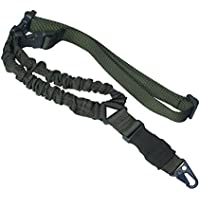 ONIVIB 1000D High Density Nylon Tactical Single Point Sling with Adjustable Bungee Rifle Gun Strap System