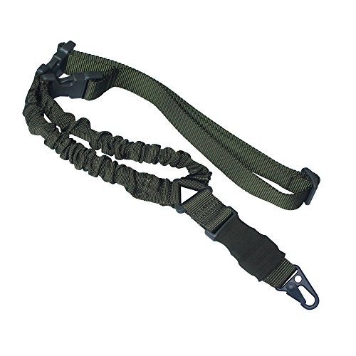 ONIVIB 1000D High Density Nylon Tactical Single Point Sling mit verstellbarem Bungee Gewehr Gun Gurt System Armeegr¨¹n -