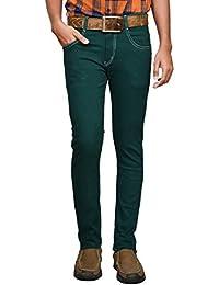 American Noti Green Cotton Lycra Denim Stretchable Skinny Fit Stylish Men's Jeans