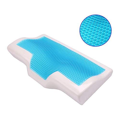 WMC Memory Foam Kissen Summer Ice-cool Anti-Schnarchen Hals Orthopädische Schlafkissen Kissen + Kissenbezug für zu Hause Bettwäsche,60 * 34cm (Hals Kissenbezug)