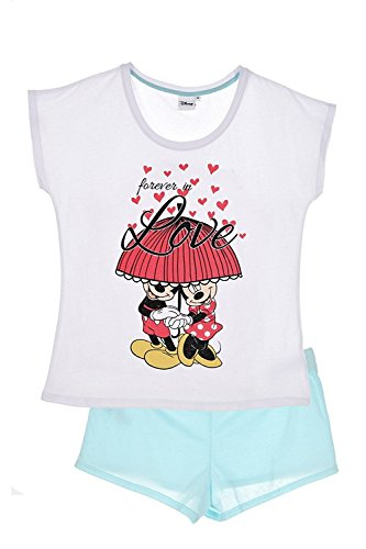 ENSEMBLE 2 PCS SHORT + T-SHIRT MINNIE MOUSE Blanc bleu