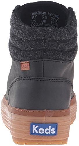 Keds Damen High Rise Lea Wool Chelsea Boots Schwarz (Black)