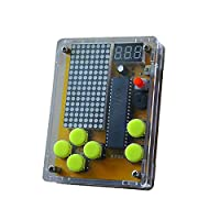 Andifany Diy Electronic Learning Kit 4 In 1 Classic Games For Tetris/Snake/Plane/Racing With Shell