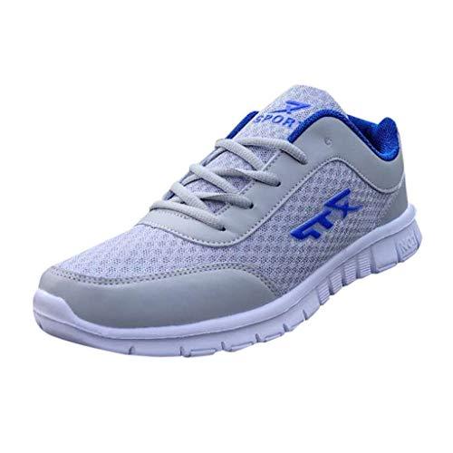 Xmiral Scarpe Sportive Indoor Uomo Fashion Running Casual Mesh Sport Traspirante 43 Blu