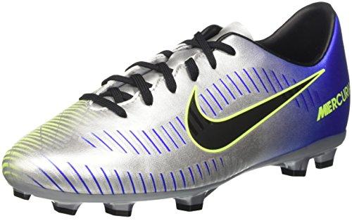 Nike Unisex-Kinder Jr Mercurial Victory VI Neymar FG Fußballschuhe, Blau (Racer Blue Black Chrome Volt 407), 36.5 EU