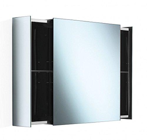 Lineabeta PIKA' Spiegelschrank mit Türen und seitlichen Schubladen, Ausführung: Edelstahl, Türen,verspiegelt, 51513.29 -