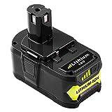 Reoben 18V 5,0Ah Lithium-Ion Batterie Remplacement pour Ryobi 18V ONE + P108 P102...