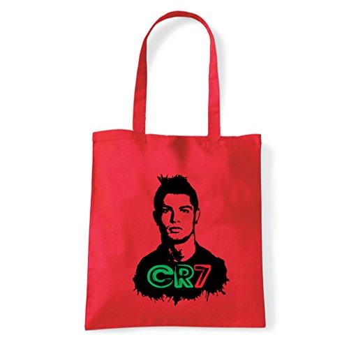 Art T-shirt, Borsa Shoulder Cristiano Ronaldo CR7 Rosso