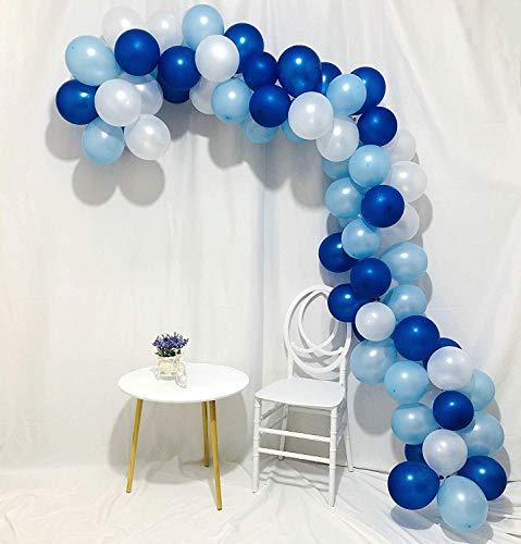 Erosion Blaue und weiße Ballons 100 Stück 12-Zoll-Royal Blue Balloons Hellblaue Ballons Weiße Ballons Blaue Ballons Latexballons für Jungen Taufe, Cinderella Party, Jungen 1. Geburtstag (Royal Blau Hochzeit Ballons)