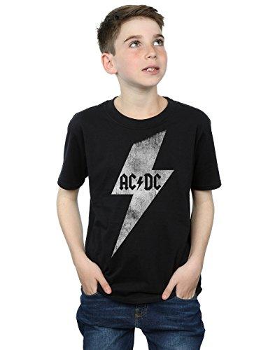 AC/DC niños Lightning Bolt Camiseta 12-13 years Negro