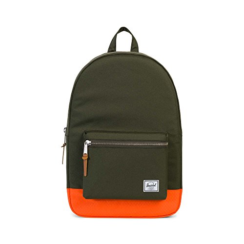 Herschel Supply Co. Verde / Naranja Settlement mochila
