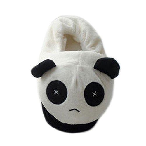 Hausschuhe plüsch Tiere Pyjama Unisex Erwachsene Schuhe Cosplay Halloween Kostüm Ausrüstung Panda Schuhe Paar animali- Lath.Pin, schwarz - schwarz - Größe: UE 38-42 (Kostüm Halloween Uomo)