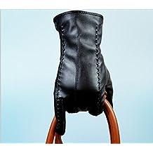 GYMNLJY Guante Otoño e invierno Touch pantalla PU Ms caliente más terciopelo cálido guantes de cuero
