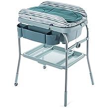 Chicco Cuddle & Bubble - Bañera cambiador 2en1 compacta, 10 kg, color azul, verde o gris